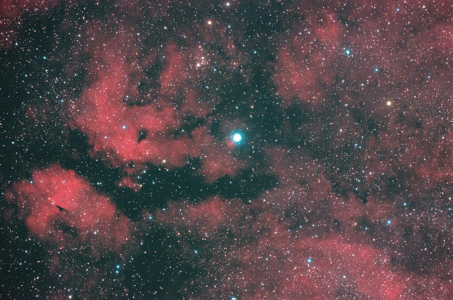 はくちょう座 サドル付近の散光星雲