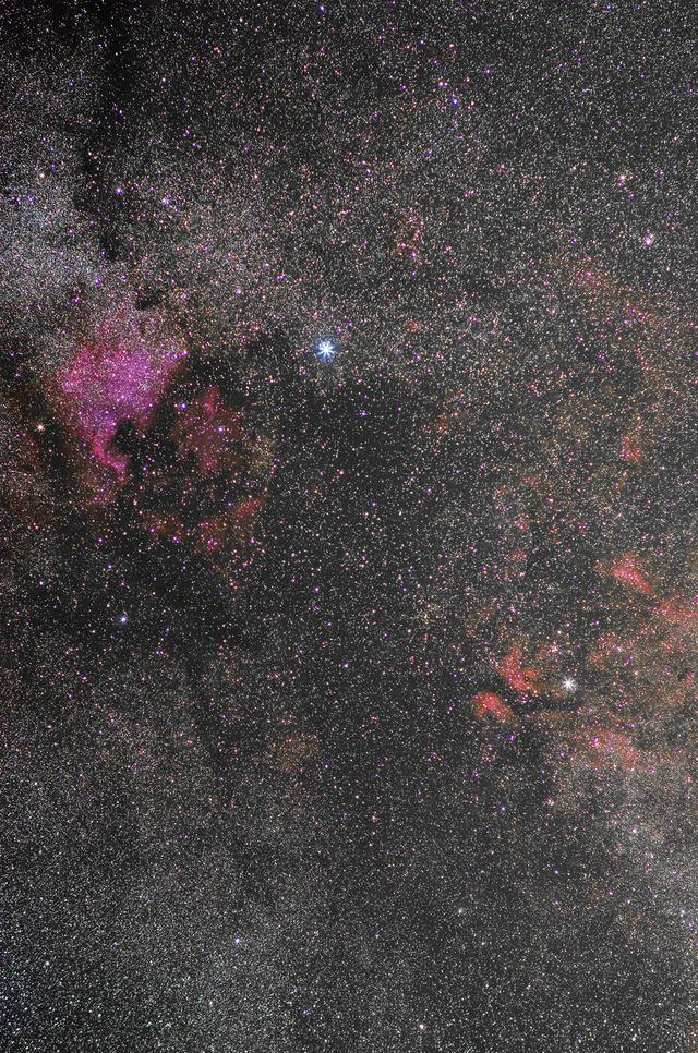 中望遠で切り取る秋の星空