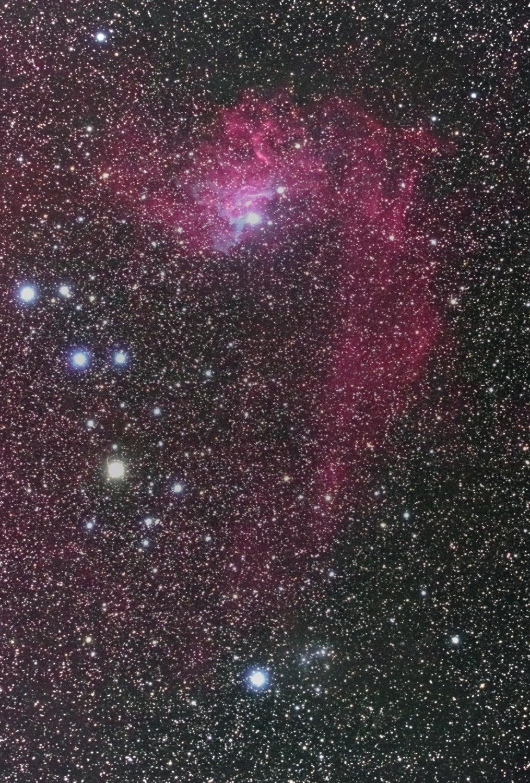 IC405  勾玉星雲