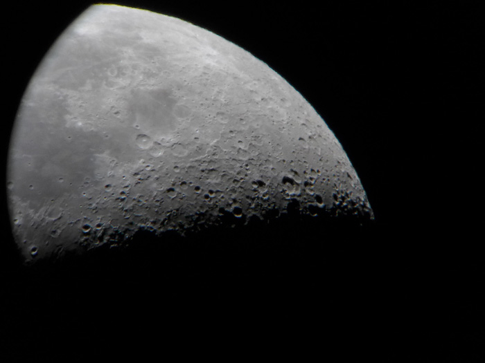 さいたまの荒川河川敷からBKMAK150でお月見&金星観察